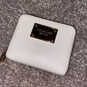 Michael Kors white leather wallet